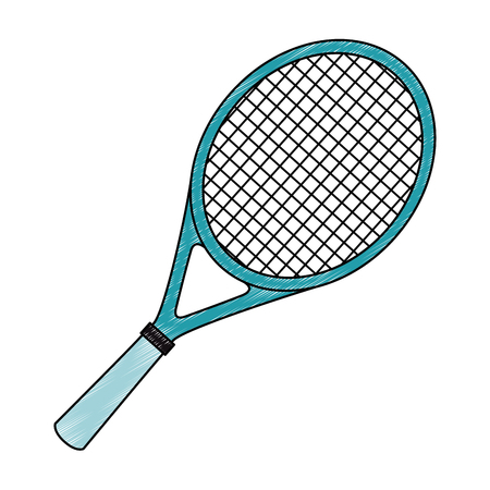 tennis racket isolated icon vector illustration design Ilustração