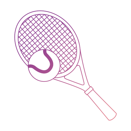tennis racket and ball isolated icon vector illustration design
