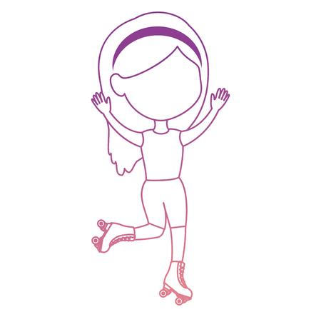 little girl skating sport vector illustration design Banque d'images - 102395987