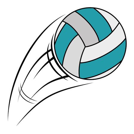 volleyball balloon isolated icon vector illustration design Illusztráció