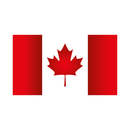 canadian flag emblem icon vector illustration design