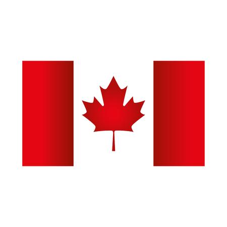 kanadisches Flaggenemblemikonen-Vektorillustrationsdesign