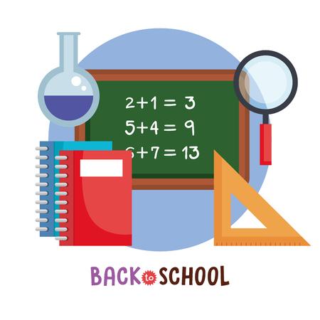 back to school set icons vector illustration design Vettoriali