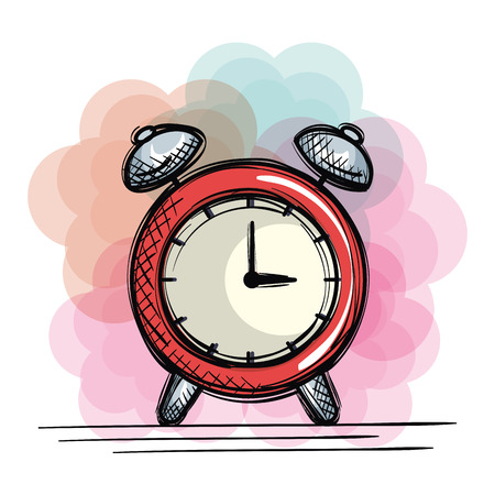 alarm clock time drawing vector illustration design Illustration