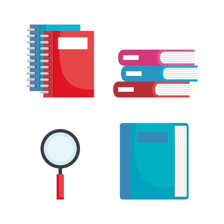 back to school set icons vector illustration design Ilustração