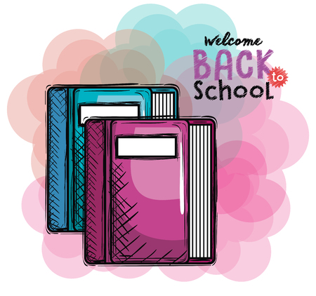 books back to school drawing vector illustration design