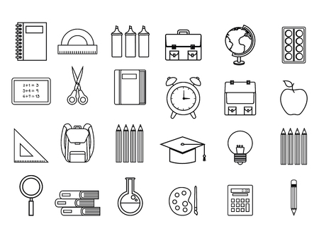 back to school set icons vector illustration design Illustration