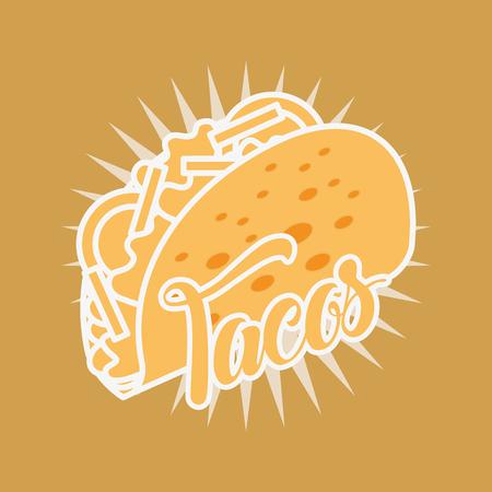 mexican food tacos delicious tasty vector illustration