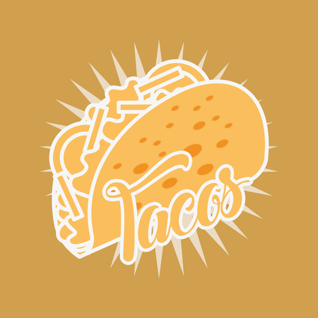 mexican food tacos delicious tasty vector illustration