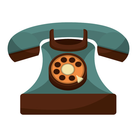 retro telephone vintage style vector illustration design  イラスト・ベクター素材