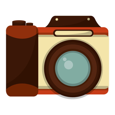 retro camera photographic icon vector illustration design