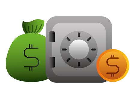 Economía y finanzas establecer iconos diseño ilustración vectorial