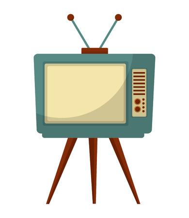 tv old retro style vector illustration design Ilustrace