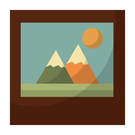 picture file retro style vector illustration design