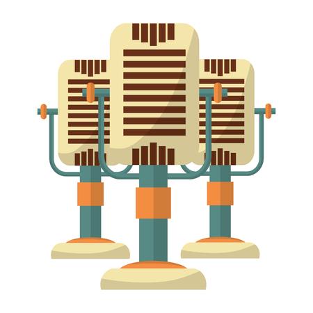 microphones music retro style vector illustration design