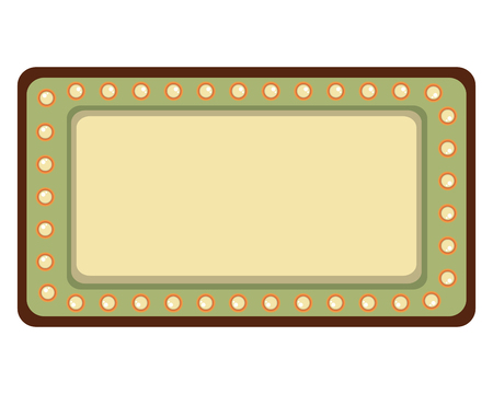 label with lights retro style vector illustration design