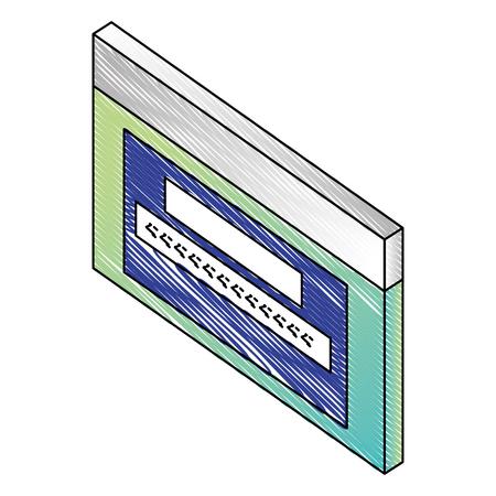 website password code login access isometric vector illustration