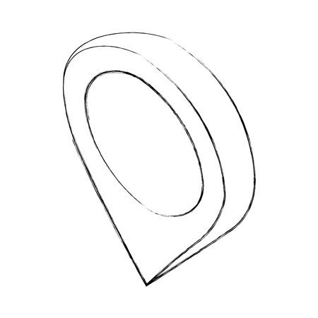 gps navigation pin map location isometric vector illustration