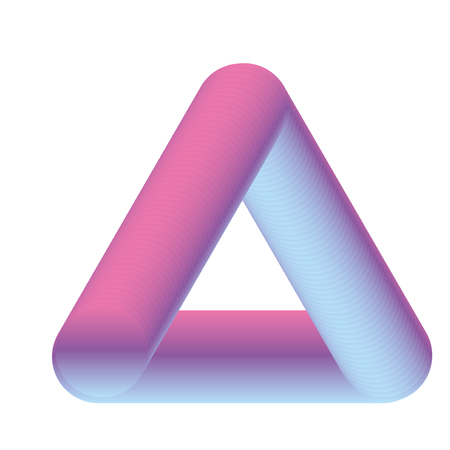 fluid abstract shape triangle neon design vector illustration