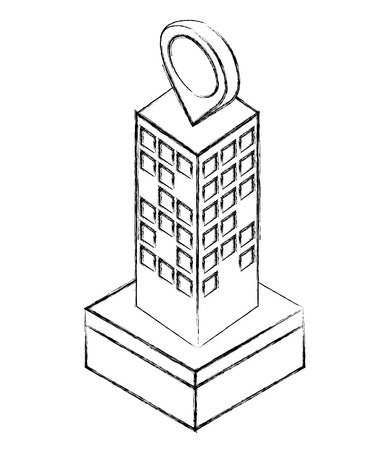 building city urban structure high isometric vector illustration