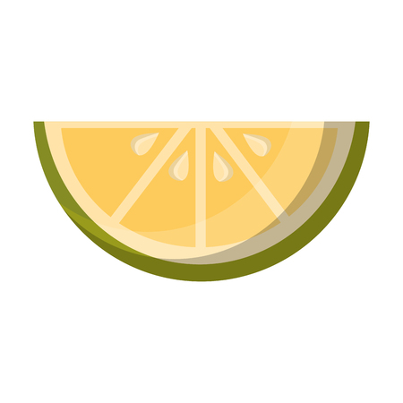 slice lemon citurs fresh image vector illustration Иллюстрация
