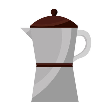 italian traditional coffee maker object vector illustration