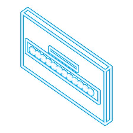 website password login secuirty isometric vector illustration