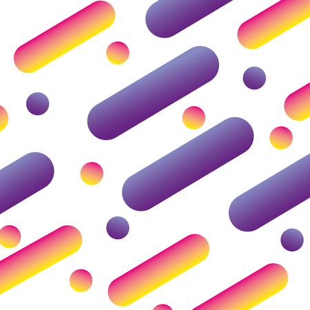 fluid abstract dots and lines gradient design vector illustration Ilustração