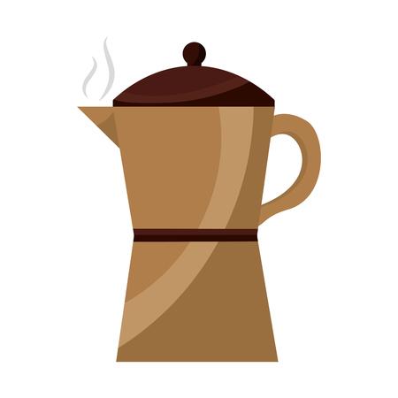 italian traditional coffee maker object vector illustration