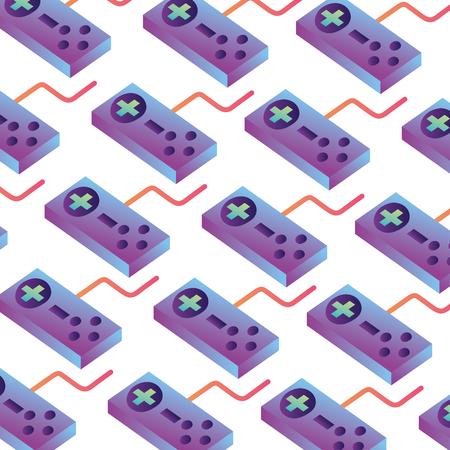 game control isometric pattern background vector illustration design Ilustração