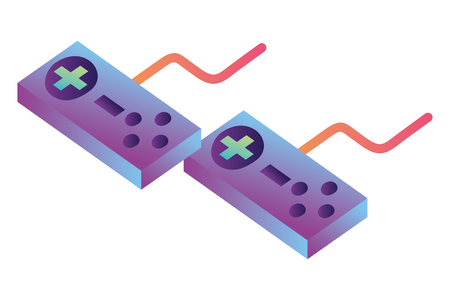 game controls isometric icon vector illustration design