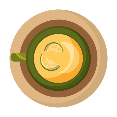 delicious lemon tea cup icon vector illustration design