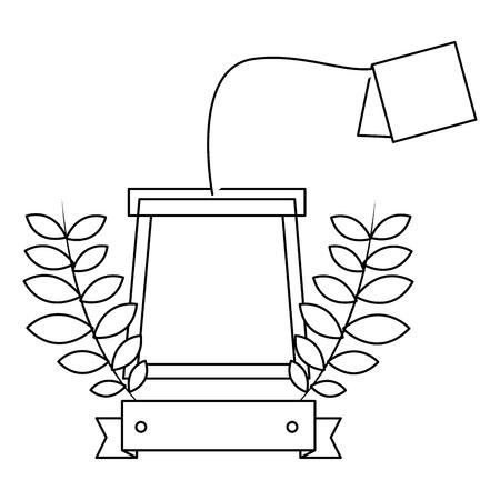 delicious herbs tea bag vector illustration design Illustration
