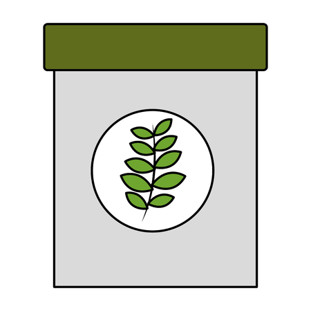 natural herbal fresh tea bag vector illustration Illustration