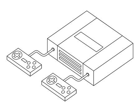 video game console isometric vector illustration design Reklamní fotografie - 102491062