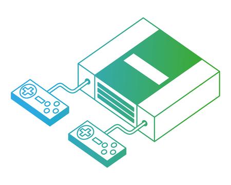 video game console isometric vector illustration design Stock fotó - 102491173