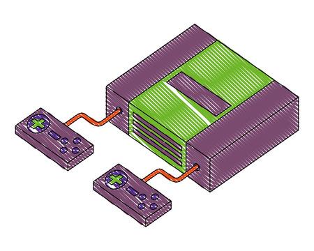 video game console isometric vector illustration design Stock fotó - 102491208