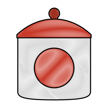 ceramic sugar pot icon vector illustration design Ilustração