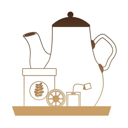 delicious lemon tea set icons vector illustration design Ilustrace