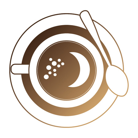 delicious coffee cup icon vector illustration design Illustration