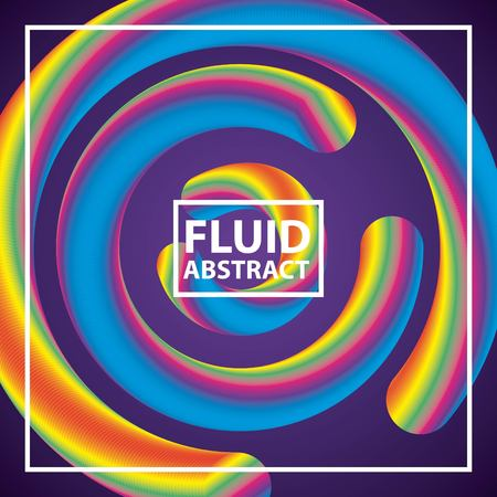 fluid abstract background colors neon spirals circles vector illustration