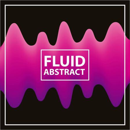 fluid abstract background pink spiral black frame vector illustration
