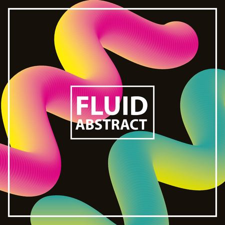 fluid abstract background color neon spirals vector illustration