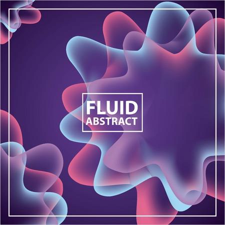 fluid abstract background spiral neon spots splash color vector illustration Ilustração