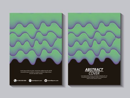 abstract covers background banners green melted dark text vector illustration Illustration