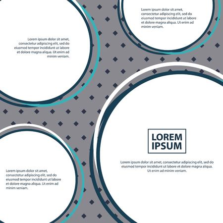 abstract covers background text circles geometric colors vector illustration
