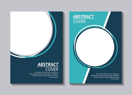 abstract covers background frame text big circles fragment vector illustration