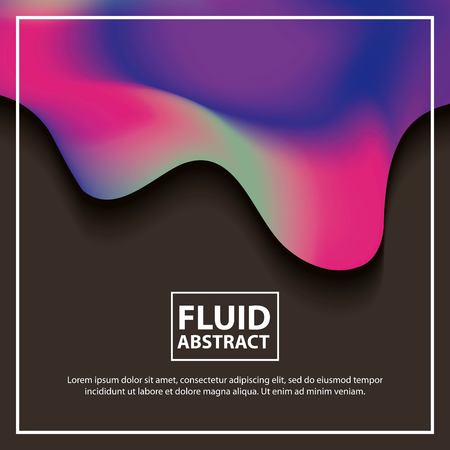 abstract covers background color neon splash melted vector illustration