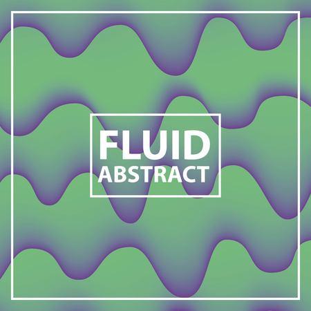 fluid abstract background neon splash melted vector illustration