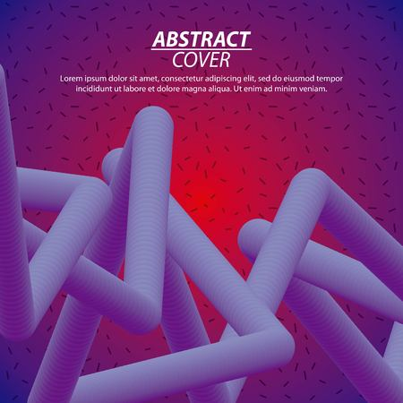 abstract covers fluids tubes degrade background purple columns vector illustration